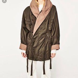 Zara studio contrast coat